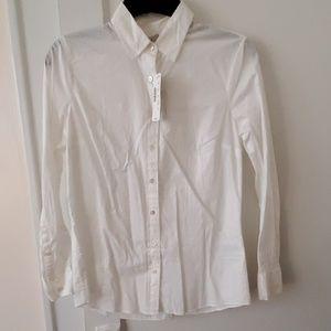 J Crew white cotton boy shirt 2P